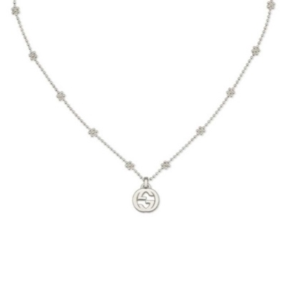 Picture of Gucci Interlocking G Pendant Small Necklace - Silver