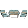 Picture of Hanover Oceana 6-Piece Outdoor Dining Set