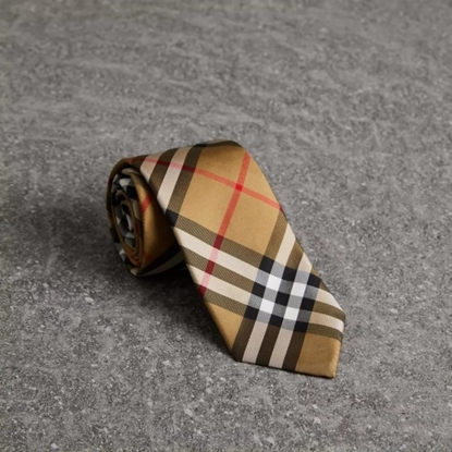 Picture of Burberry Modern Cut Vintage Check Silk Tie - Antique Yellow