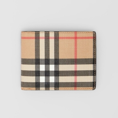 Picture of Burberry Check Canvas and Leather Bifold Wallet