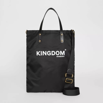 Picture of Burberry Kingdom Print Nylon Tote - Black