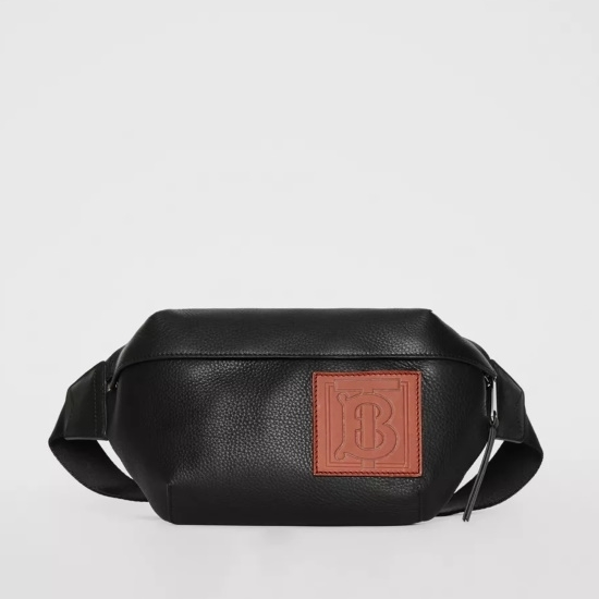 Picture of Burberry Black Leather Fanny Pack