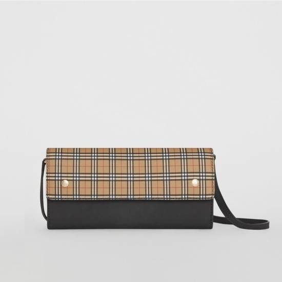 Picture of Burberry Small Scale Check Wallet with Detachable Strap