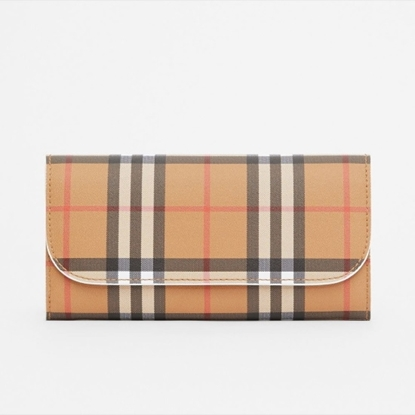 Picture of Burberry Check Wallet - Chalk White