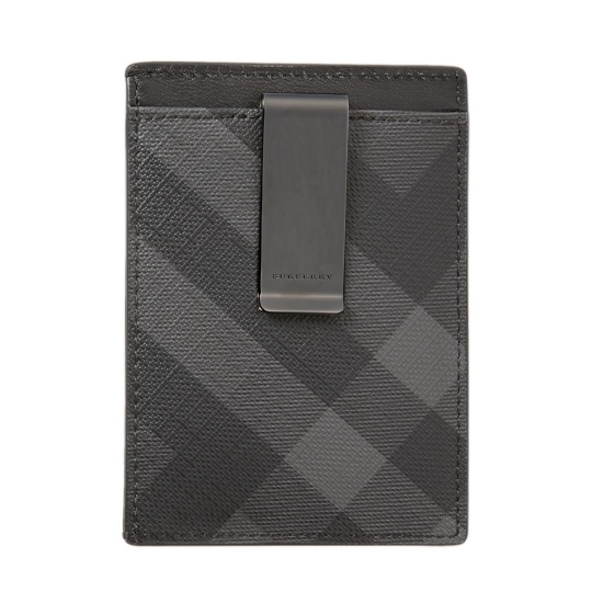 Picture of Burberry Check ID Case - Charcoal