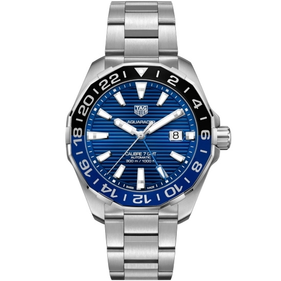 Picture of TAG Heuer Aquaracer Stainless Steel Watch with Blue/Black Dial