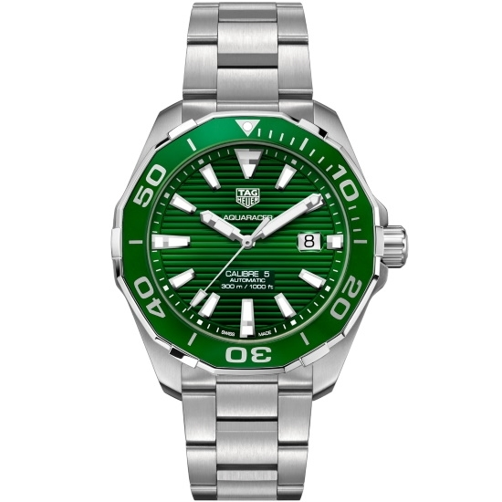 Picture of TAG Heuer Aquaracer Stainless Steel Watch with Green Dial