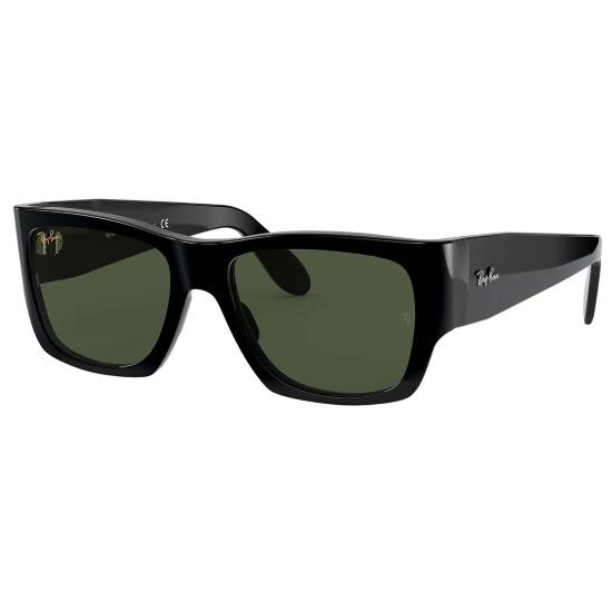 Picture of Ray-Ban® Nomad Sunglasses - Shiny Black/Green