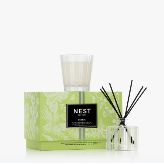 Picture of Nest 2-Piece Petite Candle & Reed Diffuser - Bamboo