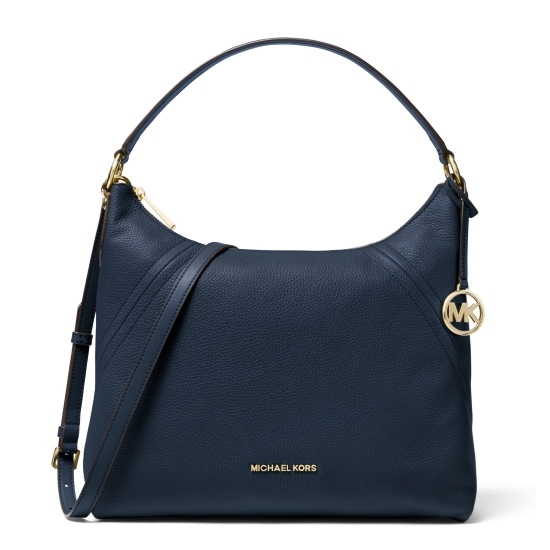 Picture of Michael Kors Aria Large Shoulder Bag - Navy
