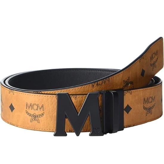 Picture of MCM Claus Reversible Belt - Cognac with Matte Black Buckle