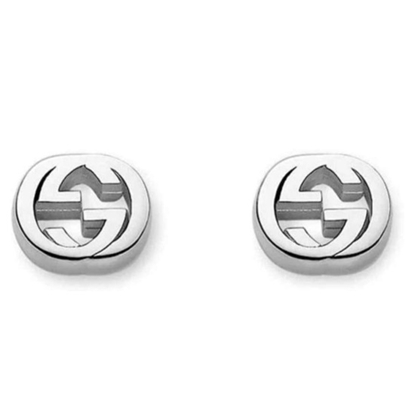 Picture of Gucci interlocking Stud Earrings - Rhodium