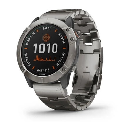 Picture of Garmin fenix 6X Pro Solar Edition Adventure Watch - Titanium