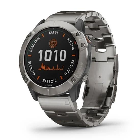 Picture of Garmin fenix 6X Pro Solar Edition Adventure Watch - Titanium