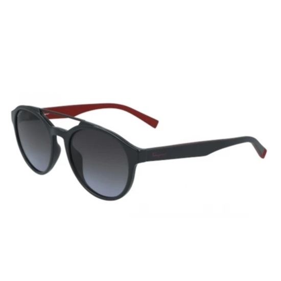 Picture of Salvatore Ferragamo Pilot Nylon Sunglasses - Dark Grey/Grey