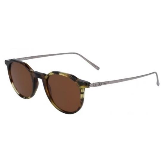 Picture of Salvatore Ferragamo Round Sunglasses - Tortoise/Brown