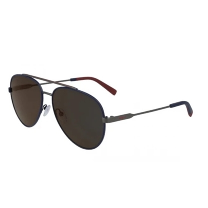 Picture of Salvatore Ferragamo Aviator Sunglasses - Blue/Dark Ruthenium