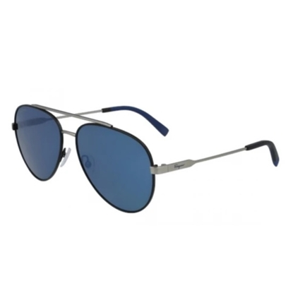 Picture of Salvatore Ferragamo Aviator Sunglasses - Black/Dark Ruthenium