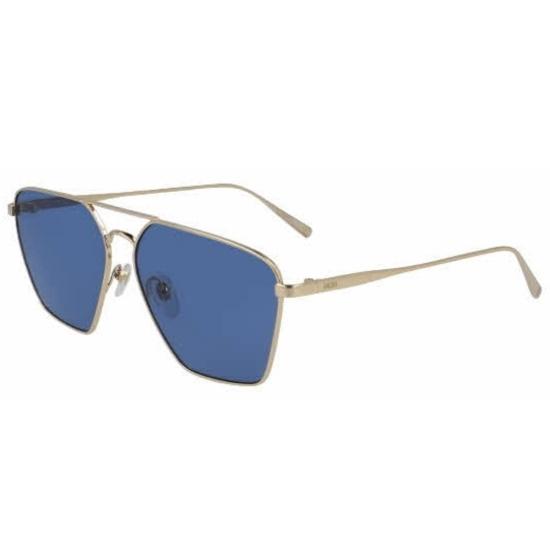 Picture of MCM Rectangular Metal Sunglasses - Gold/Blue