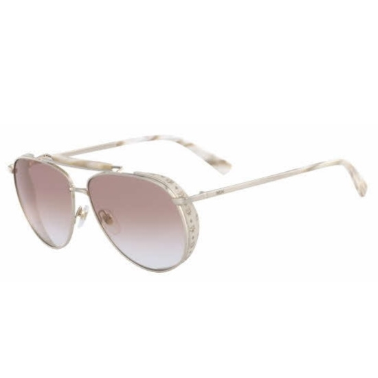 Picture of MCM Metal Frame Aviator Sunglasses - Gold/Ivory
