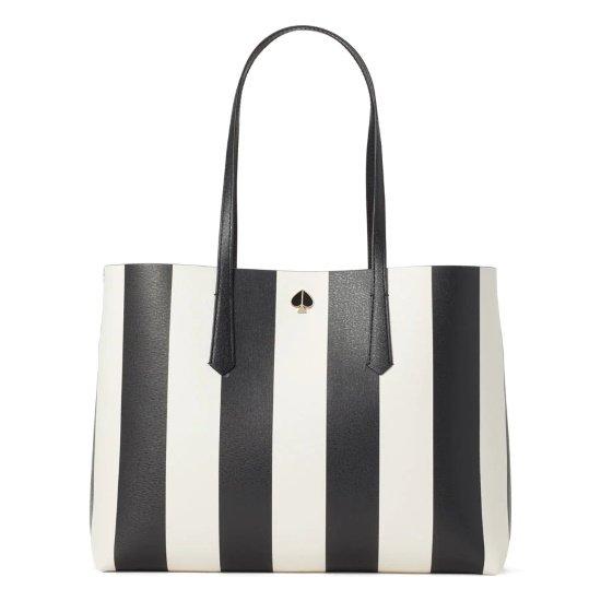Picture of Kate Spade Molly Stripe Large Tote - Black Multi