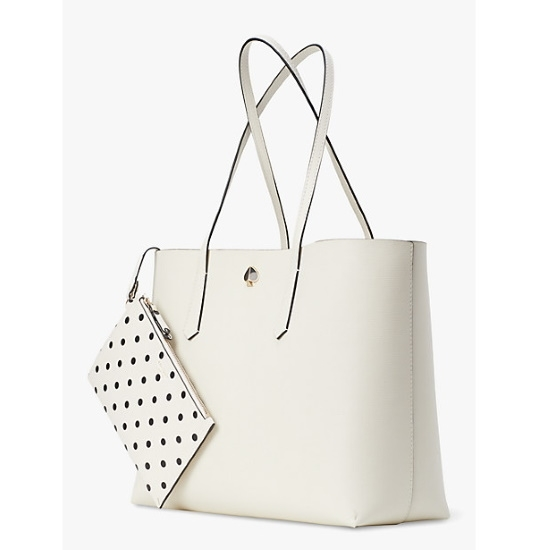 Picture of Kate Spade Molly Cabana Dot Pop Large Tote - Parchment Multi