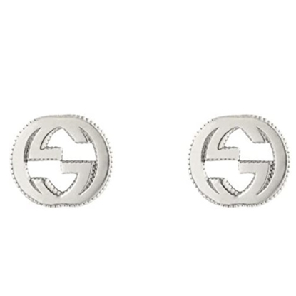 Picture of Gucci Interlocking Stud Earring - Silver