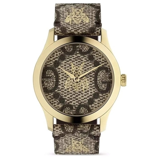 Picture of Gucci G-Timeless GG & Bee's Canvas Dial Watch