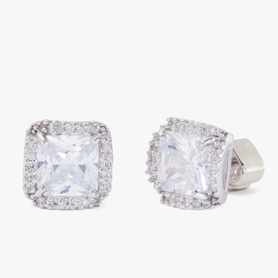 Picture of Kate Spade That Sparkle Princess Cut Studs - Clear/Silver