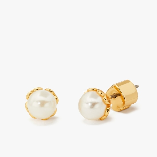 Picture of Kate Spade Pearlette Mini Pearl Stud Earrings - White