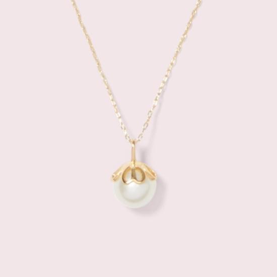 Picture of Kate Spade Pearlette Mini Pearl Pendant - White
