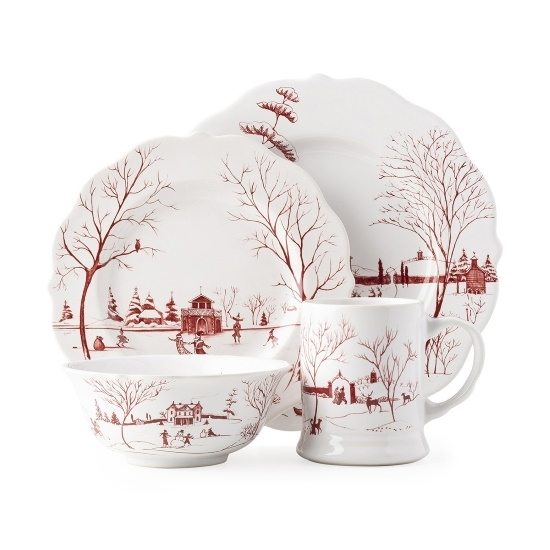 Picture of Juliska Country Estate Winter Frolic 4-Piece Place Setting