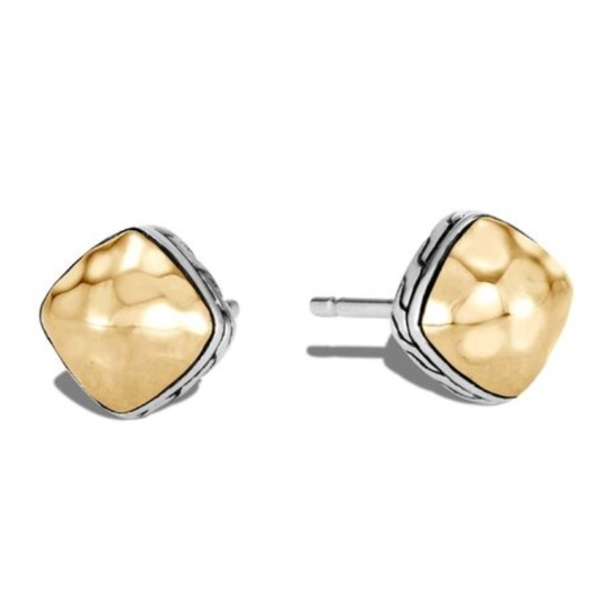 Picture of John Hardy Classic Chain 18K Gold & Silver Sugarloaf Earrings