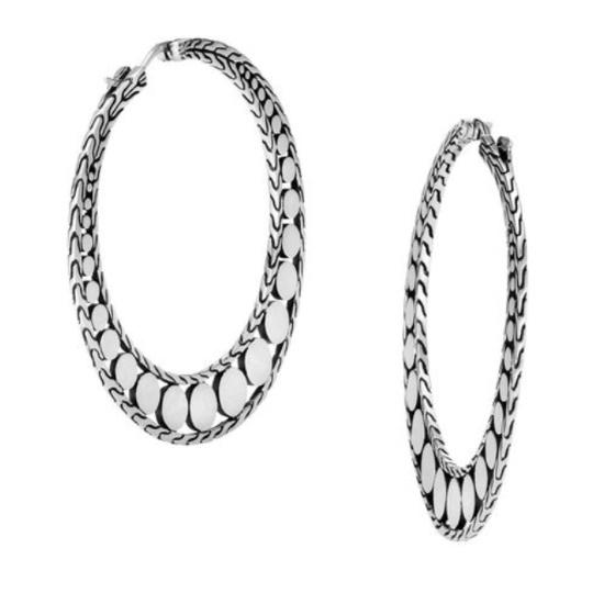 Picture of John Hardy Women's Dot Silver Hoop Earrings