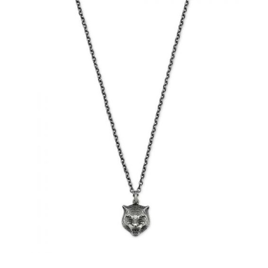 Picture of Gucci Sterling Silver Tiger Pendant Necklace