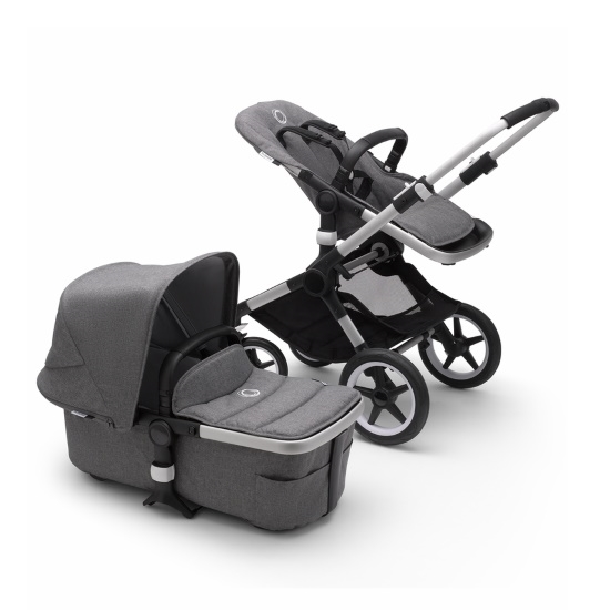 Picture of Bugaboo Fox2 Complete Stroller - Aluminum/Grey Melange