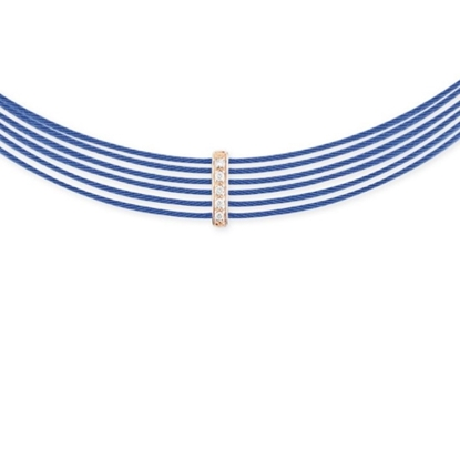Picture of ALOR Blueberry Cable Choker with 18kt Rose Gold & Diamonds