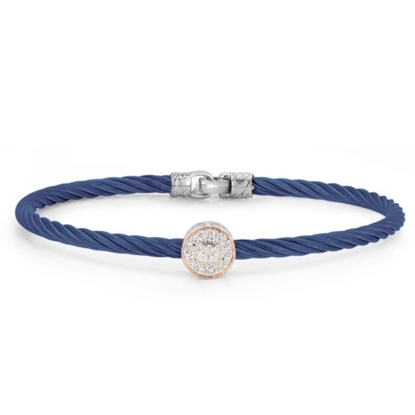Picture of ALOR Blueberry Bracelet with 18kt White & Rose Gold & Diamonds