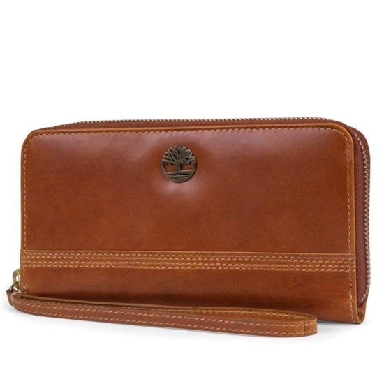 Picture of Timberland Ladies' Buff Leather Wristlet - Cognac
