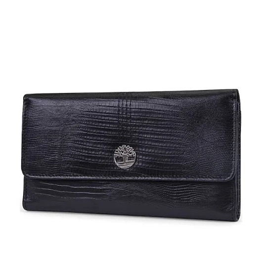 Picture of Timberland Ladies' Exotic Leather Clutch - Black