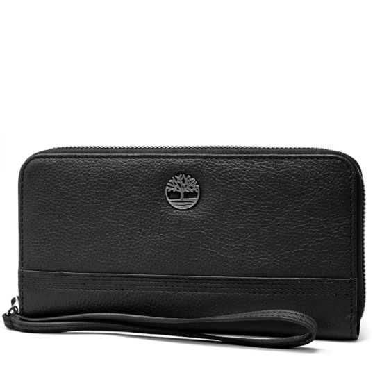 Picture of Timberland Ladies' Pebble Leather Large Wallet - Black