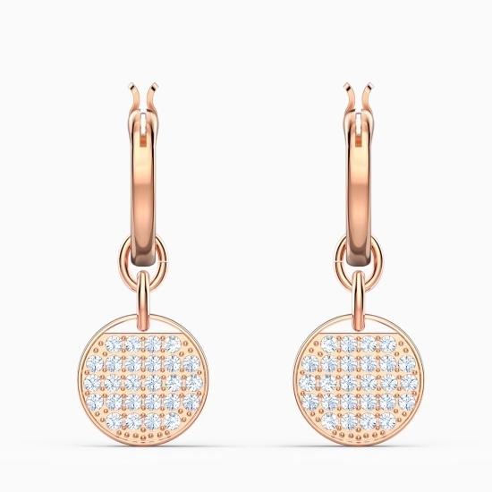 Picture of Swarovski Ginger Hoop Pierced Earrings