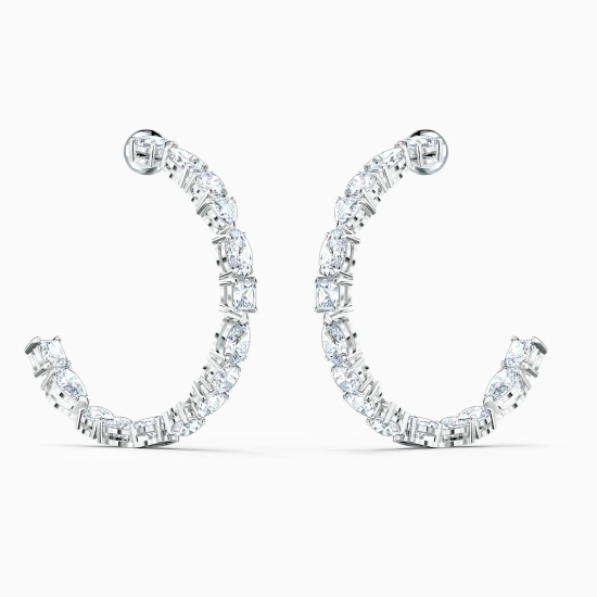 Picture of Swarovski Tennis Deluxe Mixed Cut Hoop Pierced Earrings