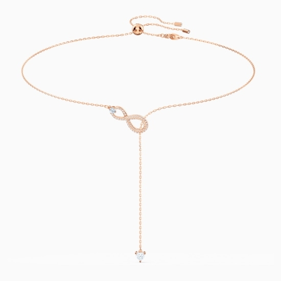 Picture of Swarovski Infinity Y Necklace - Rose Gold