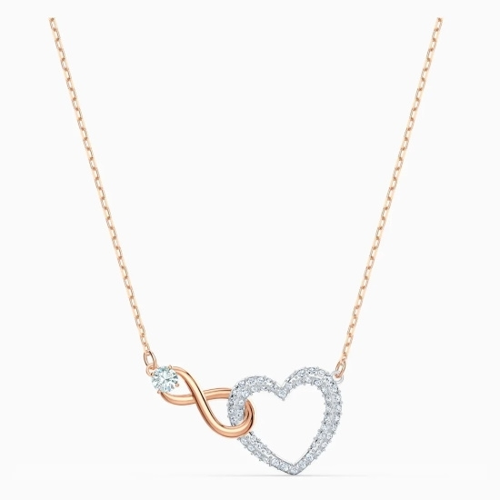 Picture of Swarovski Infinity Heart Necklace - White/Rose Gold