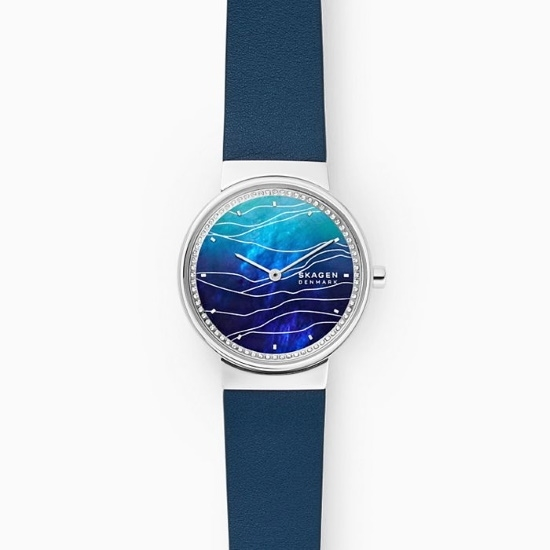 Picture of Skagen Annelie Two-Hand Blue Leather Watch