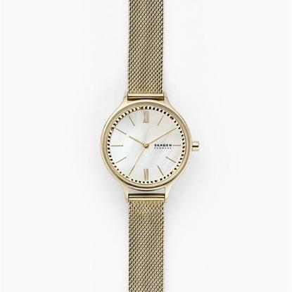 Picture of Skagen Anita Gold-Tone Steel Mesh Watch