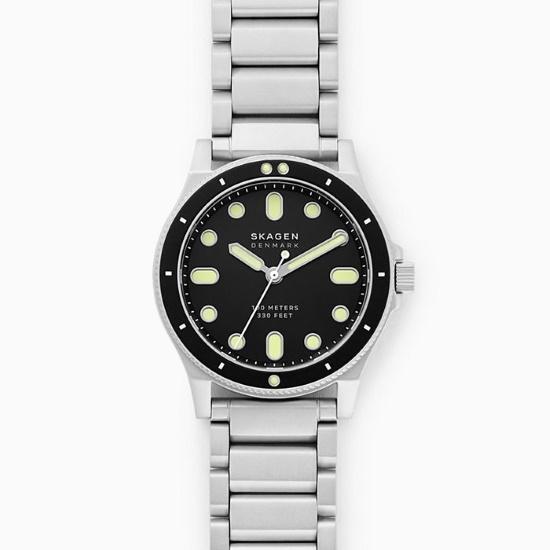 Picture of Skagen Fisk Three-Hand Silver-Tone Steel Watch