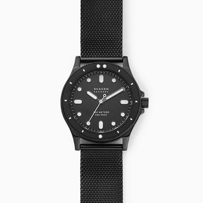 Picture of Skagen Fisk Three-Hand Black Steel-Mesh Watch