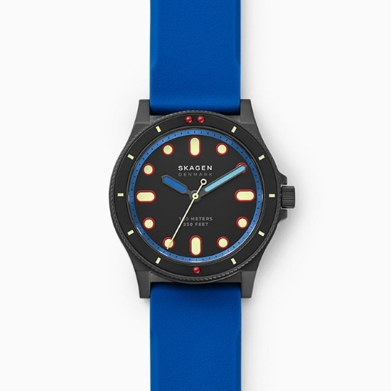 Picture of Skagen Fisk Three-Hand Blue Silicone Watch